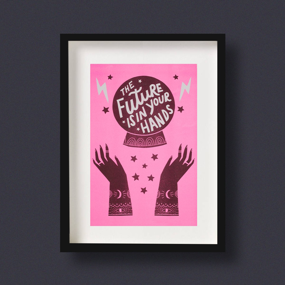 The Future is in Your Hands Riso Art Print