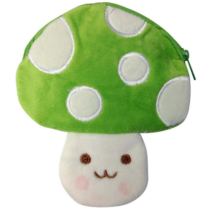 Toffee Apple Kawaii Mushroom Plush Purse Green