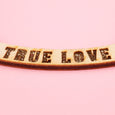 True Love Necklace Gold Wood
