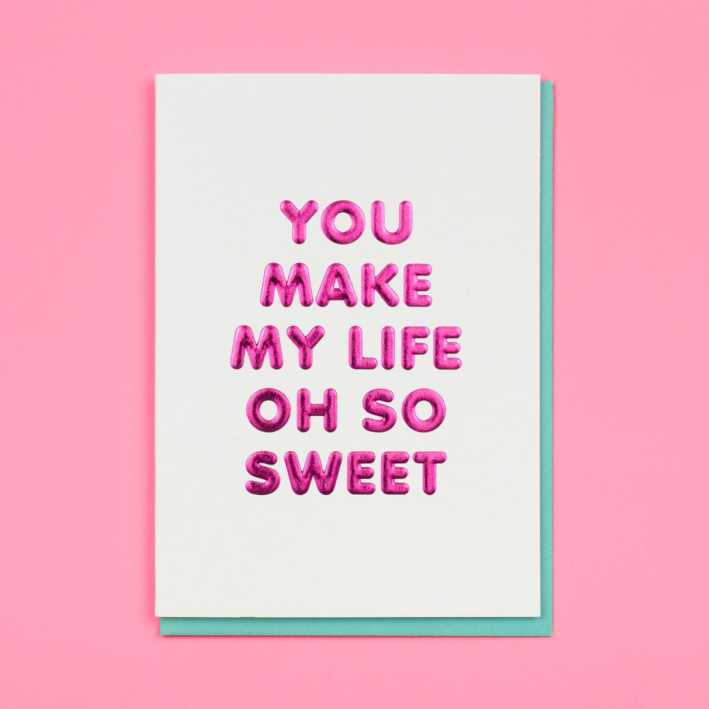 Typography Valentines Card Ohh Deer