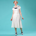White Nautical Dress Emmy Design Silver Screen Sailorette