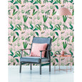 WP20361 Pink Palm Springs Wallpaper Mind the Gap