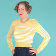 Yellow Breton Stripe Jumper Emmy Design