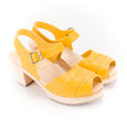 Yellow Peep Toe Clogs Lotta from Stockholm at Dollydagger