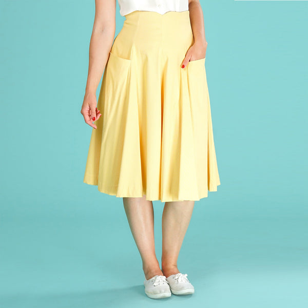 Yellow Swing Skirt Swirly Sweetheart Emmy Design