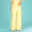 Yellow Wide Leg Trousers Emmy Design Ship Mate Slacks