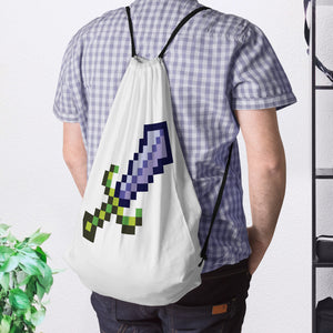 8-Bit Sword Drawstring Bag - Space Lake