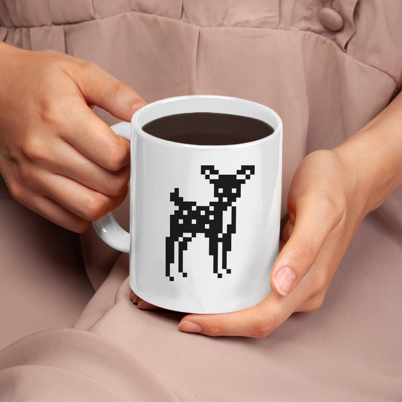 8-Bit Deer Mug - Space Lake