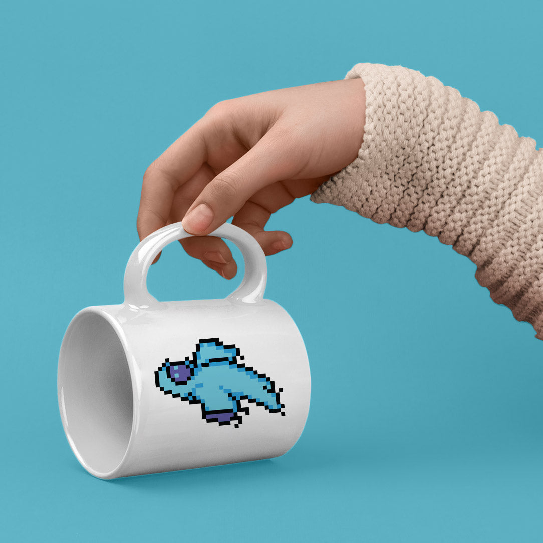 8-Bit Ghost Mug - Space Lake