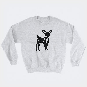 8-Bit Deer Sweatshirt - Space Lake