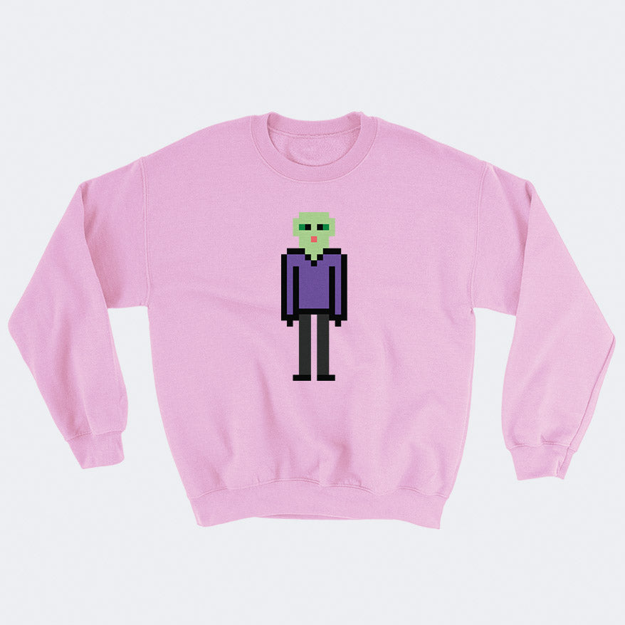 8-Bit Alien Sweatshirt - Space Lake