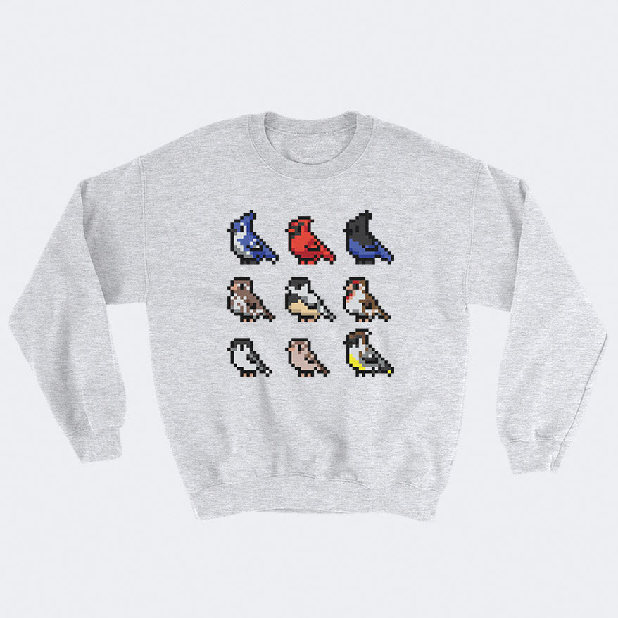 8-Bit Birds Sweatshirt - Space Lake