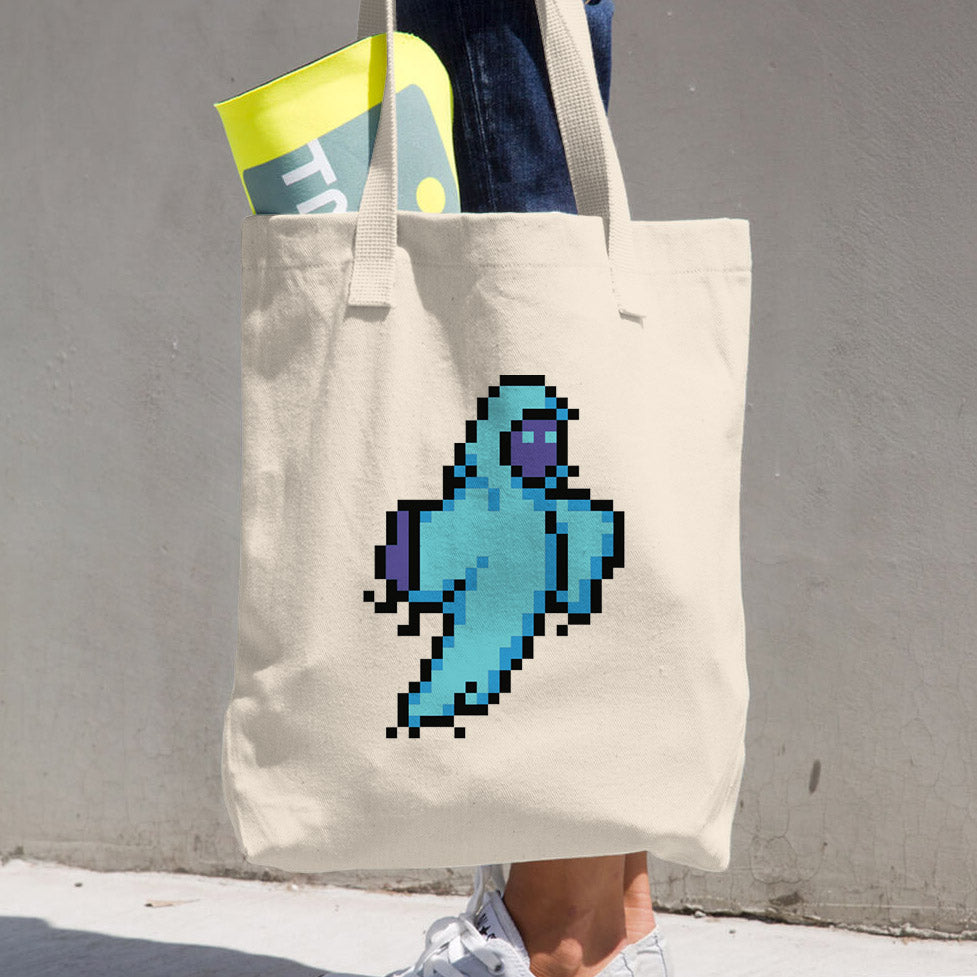 8-Bit Ghost Tote Bag - Space Lake