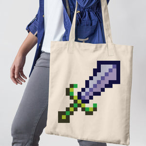8-Bit Sword Tote Bag - Space Lake