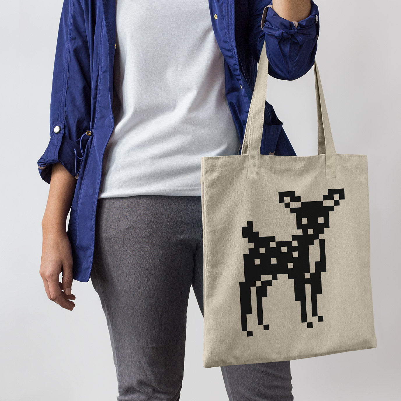 8-Bit Deer Tote Bag - Space Lake