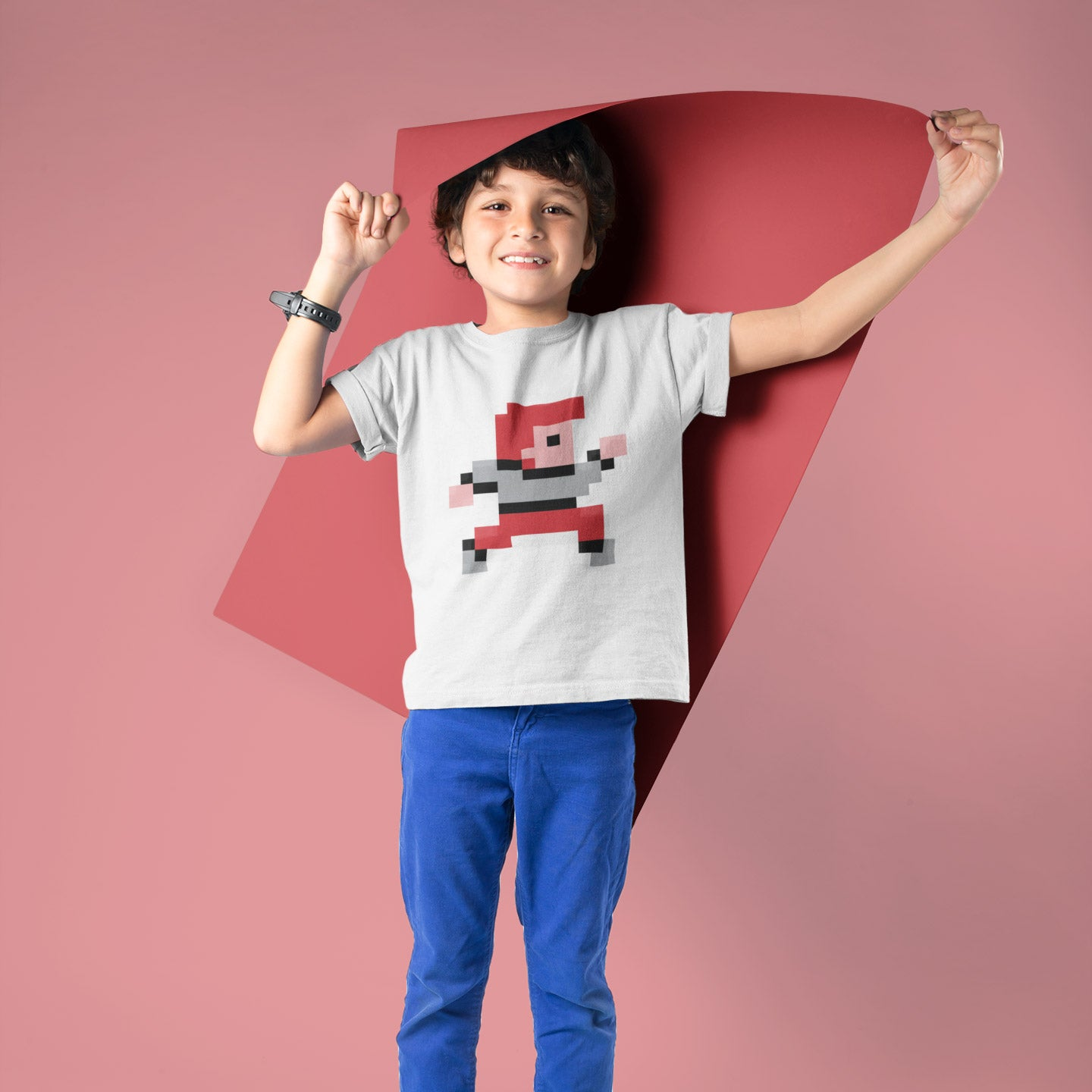 8-Bit Hero Kids T-Shirt - Space Lake