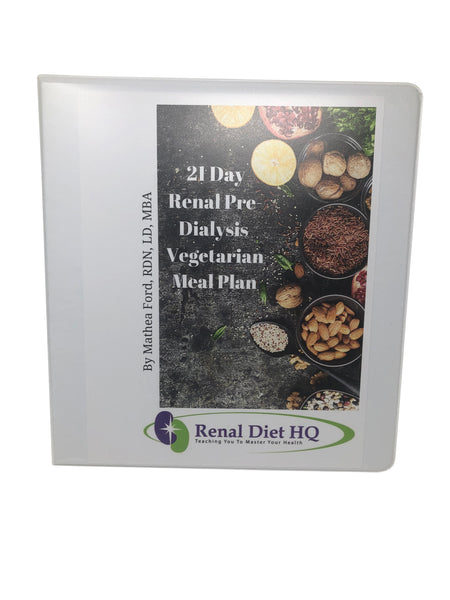 21 Day Vegetarian Meal Plan For Pre-Dialysis Kidney Disease