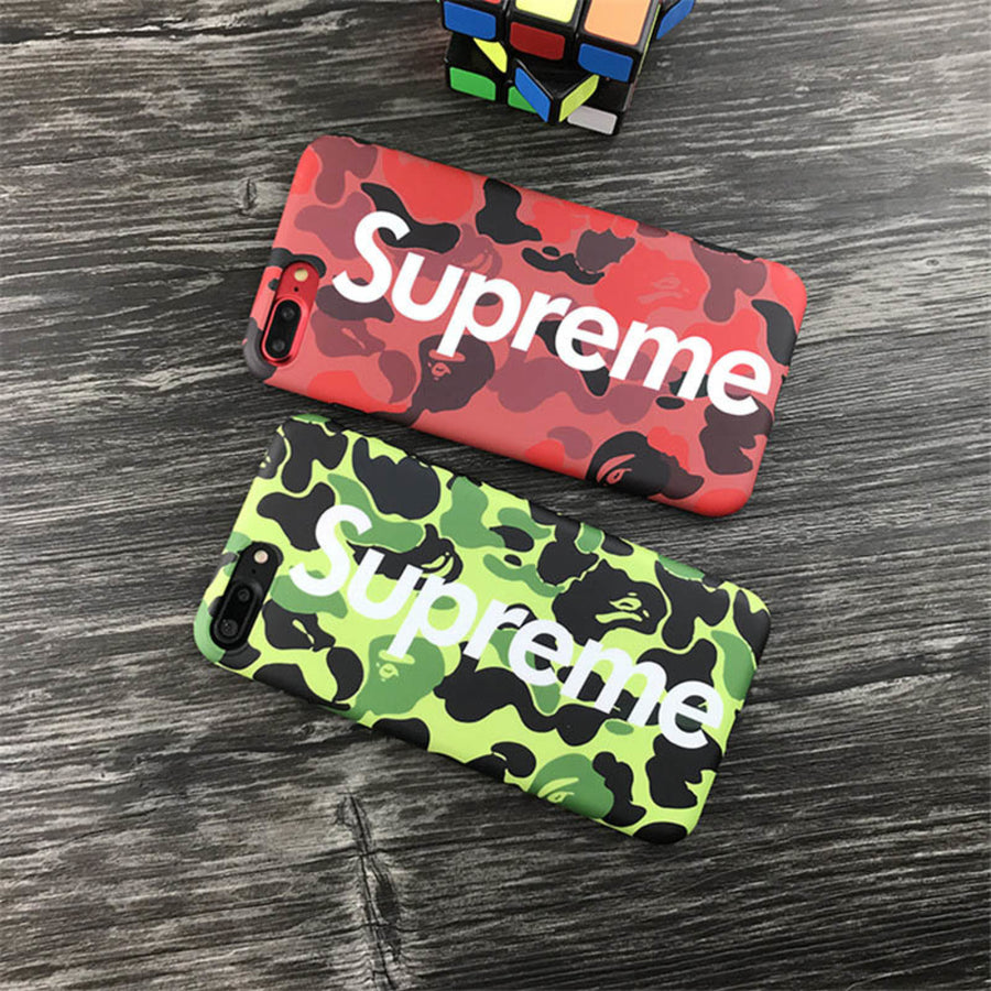 iPhone 7/8 PLUS+ Case - Camouflage Urban Streetwear Bape Supreme Design