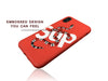 iPhone X Case - GG SUP Snake Embossed Silicone Design (RED)