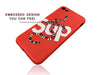 iPhone 7/8 Case - GG SUP Snake Embossed Silicone Design (RED)