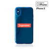 iPhone X Case -Blue Iridescent Mirror Urban Streetwear Fashion Design Supreme