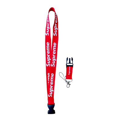 Urban Streetwear Lanyard Fashion Design Supreme (RED)