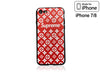 iPhone 7/8 Case - Embossed Monogram Silicone Design (RED)