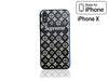 iPhone X Case - Embossed Monogram Silicone Design (Black/Brown)