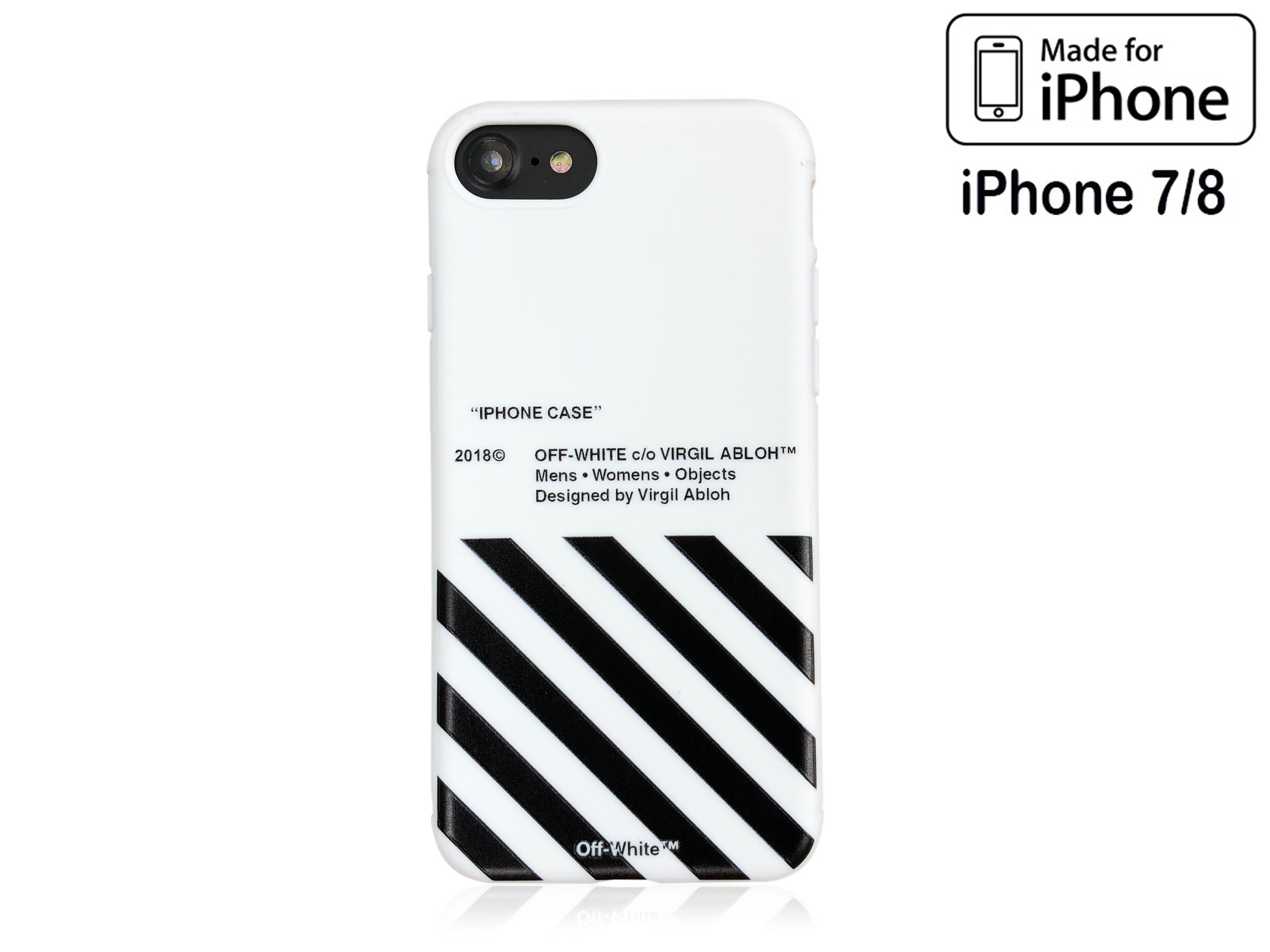 best website 5905b 2dd1b iPhone 7/8 Case - OFF WHITE Silicone Design