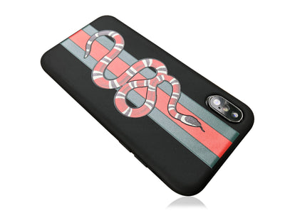 iPhone X Case - GG Snake Embossed Silicone Design