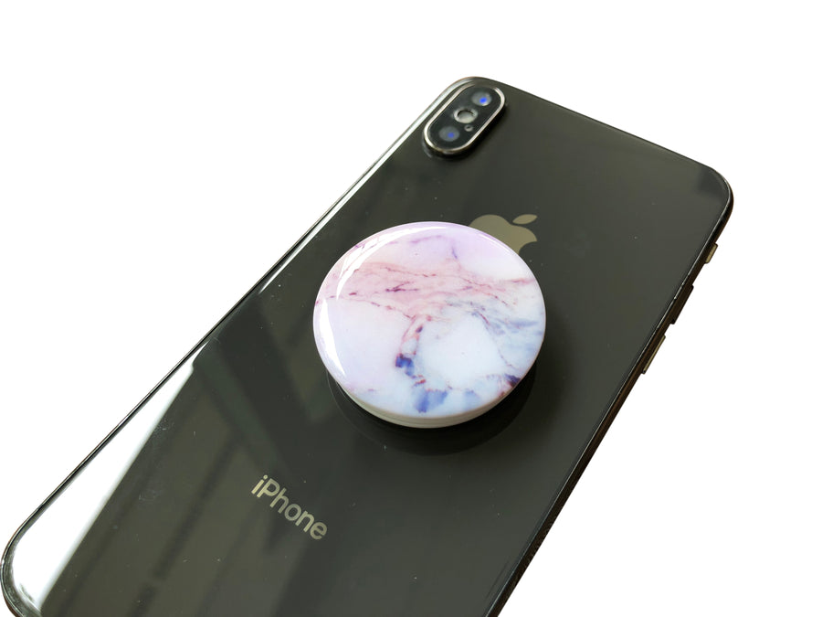 Pop Stent Phone Grip Stand - Colorful Marble