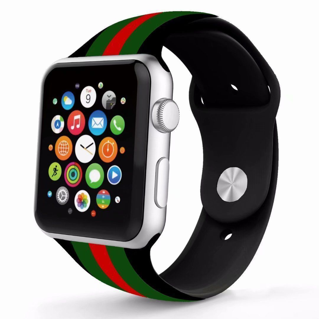 1234e0f51d5 Gucci Style 42MM Silicone Apple Watch Band - Casetection