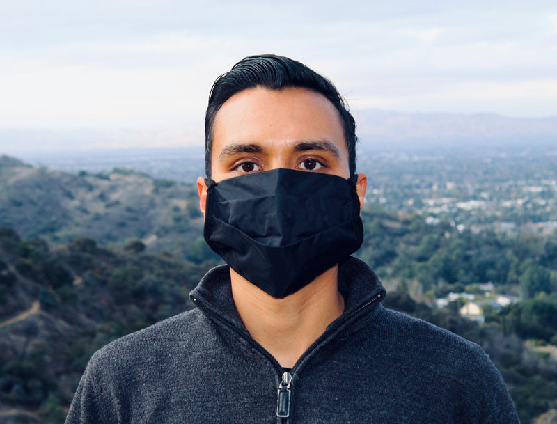 Black Nylon Mask (100% Recycled Nylon)
