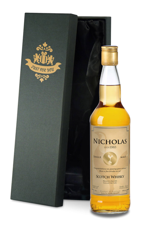 Personalised Spurs Vintage Single Malt Whisky