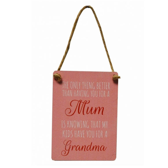 The only thing better Mum/Grandma Mini Metal Sign