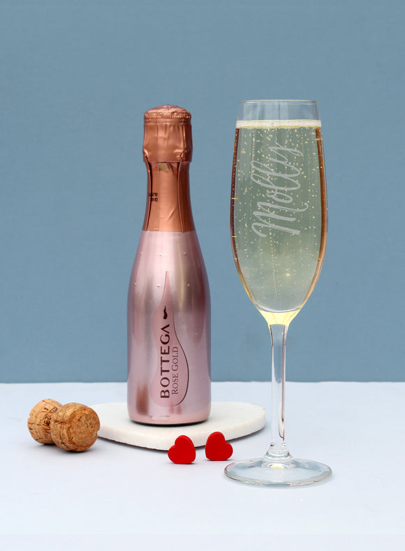 200ml Rose Gold Bottega & Flute Set