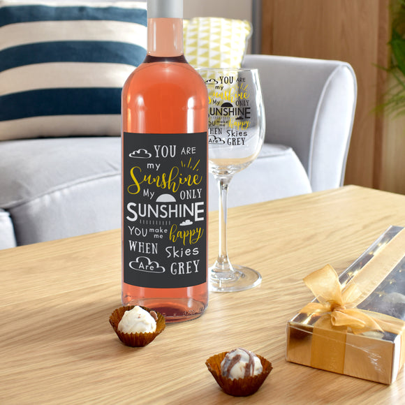 You Are My Sunshine Rosé Wine Gift Set