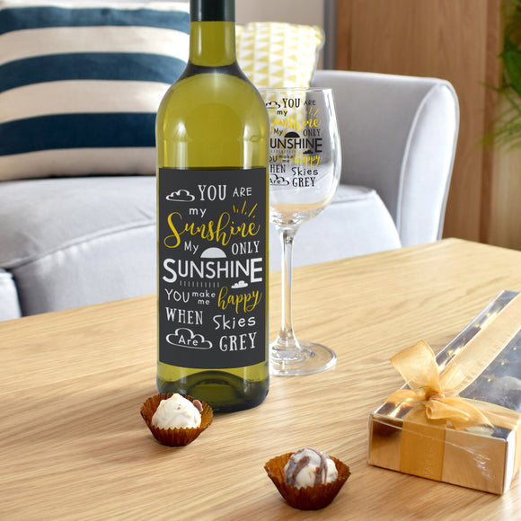 You Are My Sunshine White Wine Gift Set