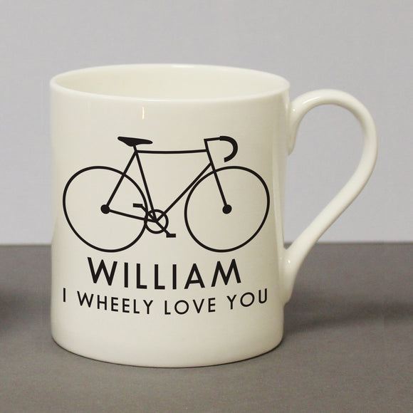 I Wheeley Love You Male Bike Chunky Balmoral Mug