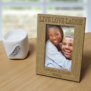 Live Love Laugh Wooden 6x4 Frame