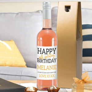 Happy 'Self Isolating' Birthday Rosé Wine