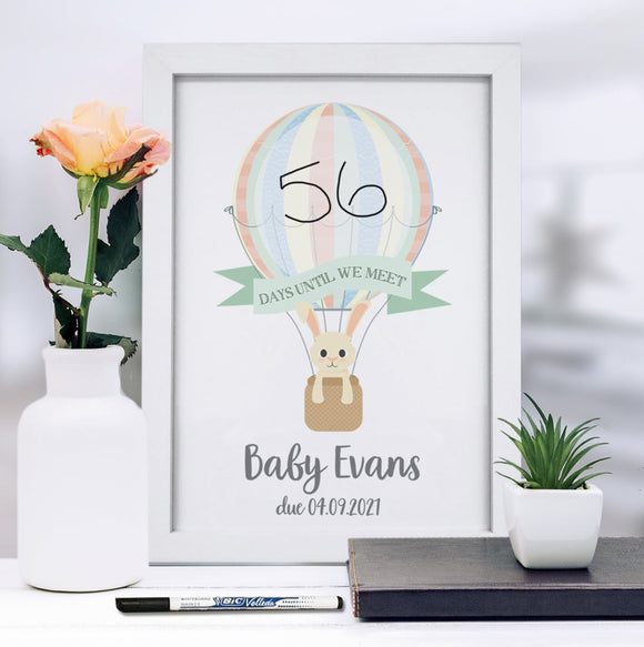 A4 Framed Baby Countdown & Dry Wipe Pen