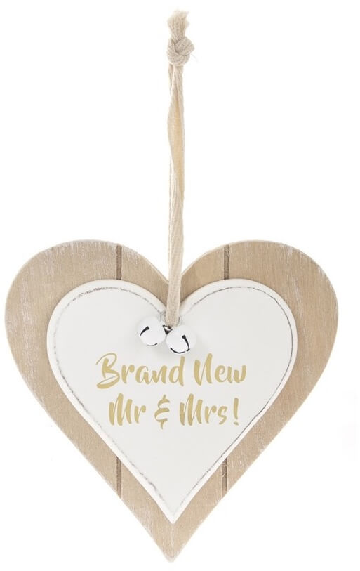 Brand New Mr & Mrs Wooden Hanging Sign