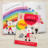 Personalised Arty Mouse Learning Words Activity Book