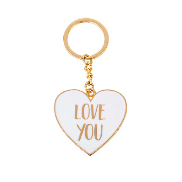 Love You Heart Key Ring