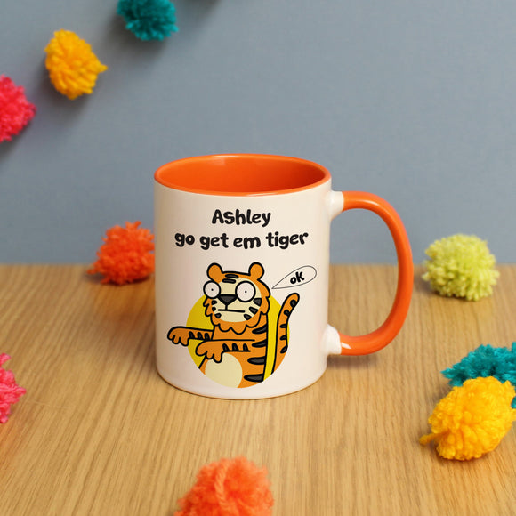 Go Get Em Orange Inside Mug