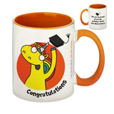 Graduation Orange Inside Mug