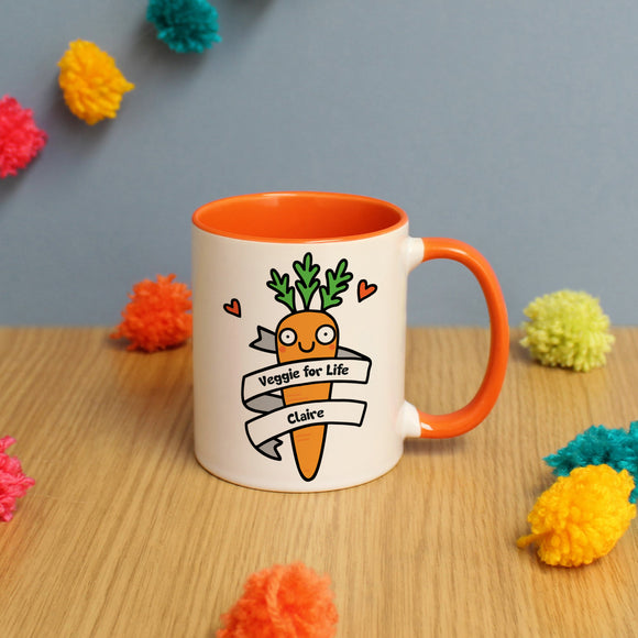 Veggie For Life Orange Inside Mug