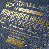 A3 Leather Cover Football Newspaper Book
