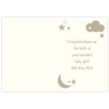 Personalised Twinkle Twinkle New Baby Card Inner
